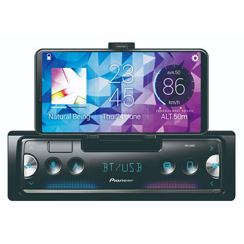 Pioneer SPH-C10BT Tuner with Pioneer Smart Sync connectivity, Phone Cradle an...