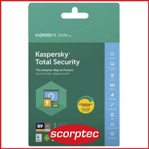 Kaspersky KL1949ECCFS Total Security *Key Only*, 3 Devices, 1 Year