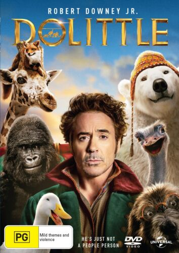 Dolittle DVD Region 4 NEW // PRE-ORDER for 29/04/2020 <br/> *** PRE-ORDER *** EXPECTED DELIVERY DATE 29/04/2020 ***