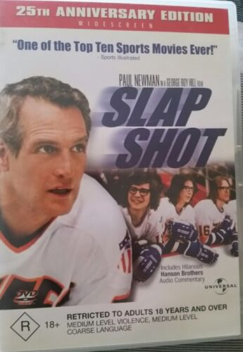 Slap Shot 1 - PAUL NEWMAN GENUINE REGION 4 DVD ICE HOCKEY 25th ANNIVERSARY