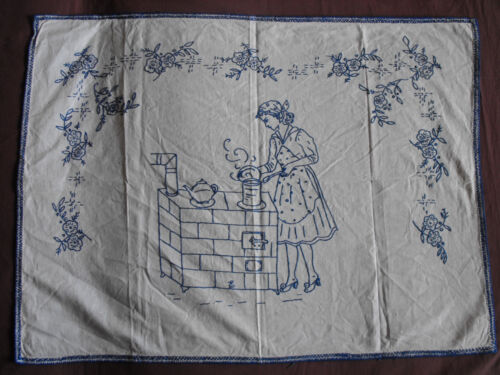 #1034  Beautiful Vintage  Embroidered Tapestry   80cm/59cm(31.5''x23'')