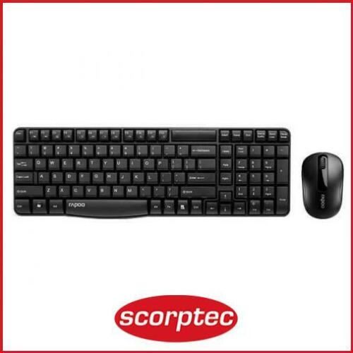 Rapoo X1800S Wireless Keyboard and Mouse Combo - Black