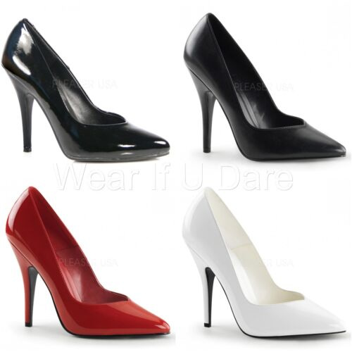 PLEASER SEDUCE-420V HIGH HEEL CLASSIC STILETTO HEEL COURT SHOES