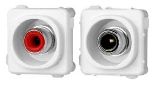 Clipsal 30-SERIES AUDIO RCA CONNECTORS 1-Pair IP20 Protection WHITE *Aust Brand