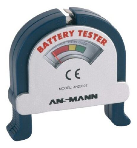 4x Ansmann BATTERY TESTERS Analogue Capacity Display, Suitable For All Sizes