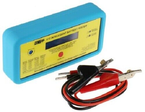 ACT Meter DUAL VOLTAGE INTELLIGENT BATTERY TESTER 612-IBT Test Leads, Carry Case