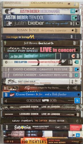 🎶 Music DVDs 🎥 AS IS : Ex-shop stock : NEW : Never played : Scuffed covers