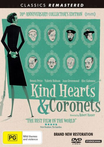 Kind Hearts and Coronets 70th Anniversary Edition DVD Region 4 NEW