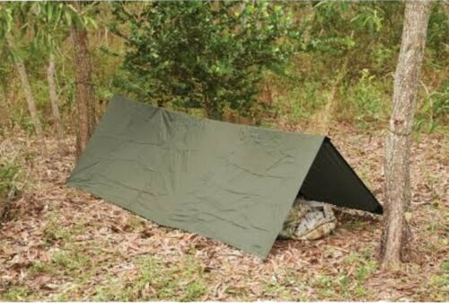TACTICAL FORCE HOOTCHIE OD GREEN 278X186CM 560 GRAM TAPE SEAM HOOCHIE ARMY BASHACanopies & Shelters - 179011