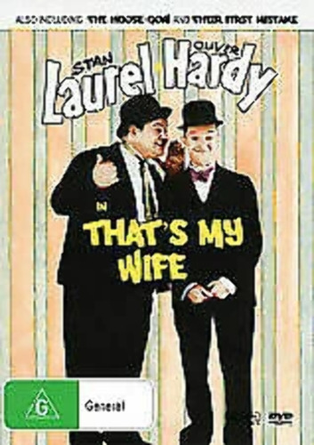 Laurel and Hardy in That's my Wife + Extra Shorts brand new seald  t121
