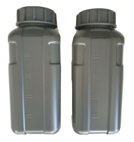 X2 PACK 1L FLASK AUSTRALIAN ARMY CANTEEN 34OZ BPA FREE - OD GREEN - WIDE MOUTH Canteens, Bottles & Flasks - 181408