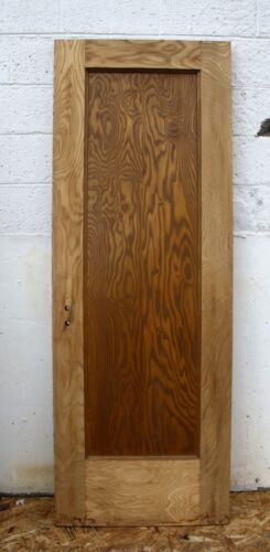 "28""x77""x1.75"" Antique Vintage Old Chestnut SOLID Wood Wooden Interior Door Panel"