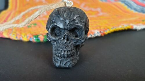 Old Tibetan Cast Skull Pendant on Cord …beautiful collection & accent piece