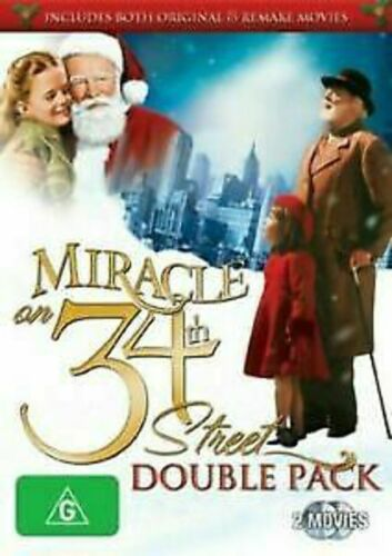 Miracle on 34th Street (1947 + 1994) Double Pack DVD Region 4 Christmas t919