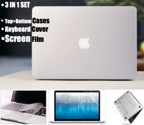3in1 SET MacBook Pro 13 Inch Clear Hard Shell Case Model A2159 A1989 A1706 A1708