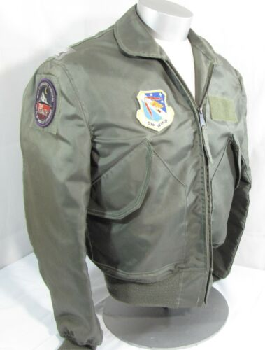 Military USAF Air Force Colonel 06 Fighter Pilot Jacket Patches CWU-36/P MediumOriginal Period Items - 13983