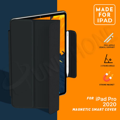 """【Magnetic】For iPad Pro 11"""" inch 2020 / 2018 Slim Smart Cover Leather Stand Case"""