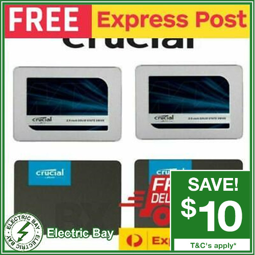 """Crucial BX500 MX500 120GB 240G 250G 480G 960G 1TB Solid State Drive SSD 2.5"""" NEW"""