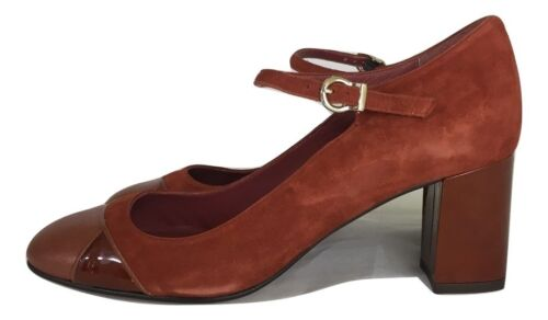 Paco Gil Brown Classic Retro Style Mary Jane Leather & Suede shoes UK 6 / 39