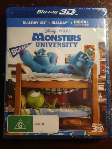 Monsters University Blu Ray 2D/3D + Digital Copy (Brand new and sealed)