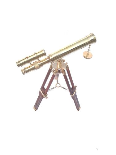 BEAUTIFUL NAUTICAL BRASS TELESCOPE WITH STAND Reenactment & Reproductions - 156374