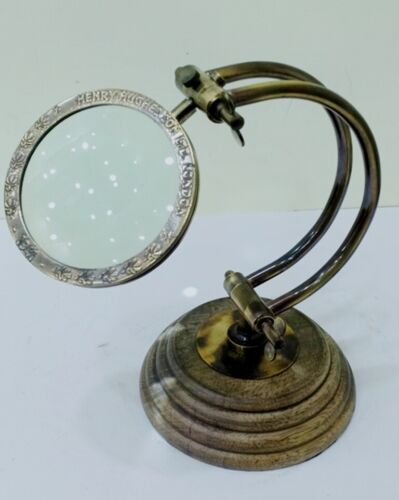 Nautical Stand Desk Magnifier Vintage Magnifying Glass Decorative