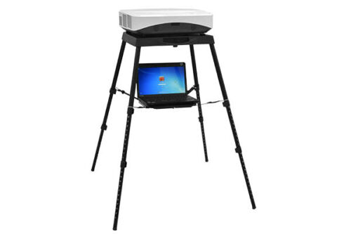 Projector Table - Height Adjustable, 2 levels, foldable for travel portable home