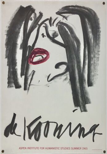 Original Vintage Poster DE KOONING ASPEN INSTITUTE '65 Pop Modern Art Exhibition