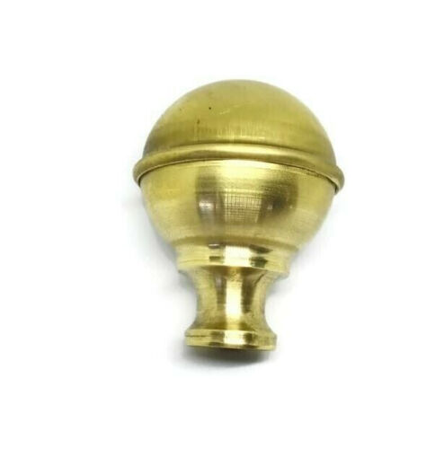 "solid Brass SPUN BED KNOB vintage style COT hollow B4S 2.1/4"" BALL thread"