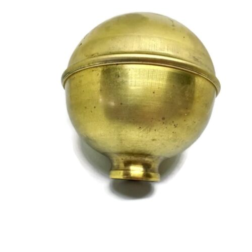 "3.1/2"" high solid Brass SPUN BED KNOB old style COT hollow B4L BALL thread"