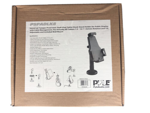 Pyle Universal Tamper-Proof Anti-Theft Ipad Tablet Kiosk Stand Holder Pew-Owned