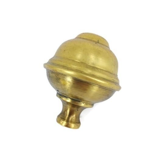"B3 mediumsize 7cm solid Brass SPUN BED KNOB vintage style COT hollow 2.3/4"" high"
