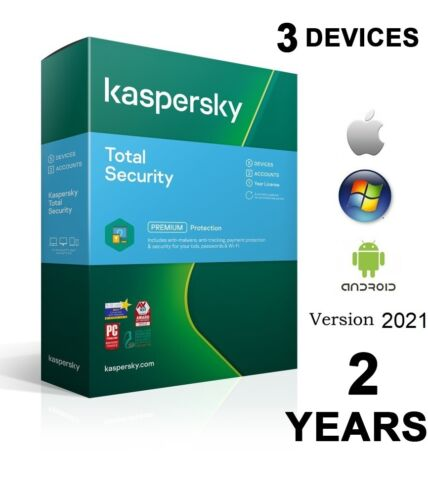 Kaspersky Premium Total Security  3 Device 2 Year License Key 2021