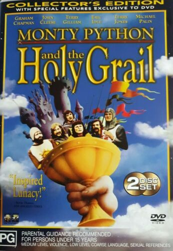 Monty Python And The Holy Grail DVD (PAL, 2 Disc Set) VGC, FREE POST
