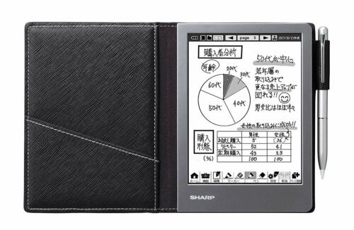 Sharp Electronic Note Black WG-S50 Ship with tracking number from Japan NEW