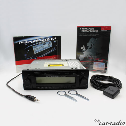 Becker Indianapolis Pro BE7950 MP3 CD Wma Navigation System Complete Set Aux