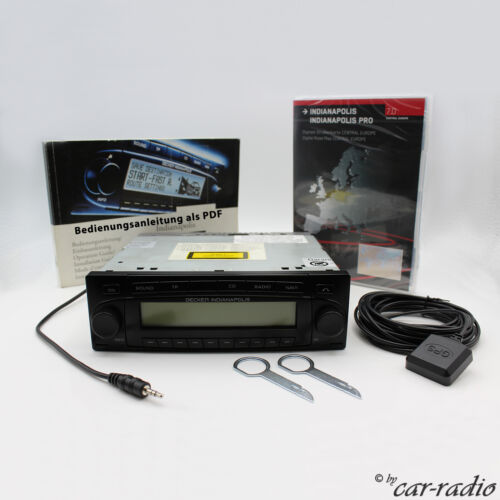 Becker Indianapolis BE7925 CD MP3 Wma Navigation System Complete Aux-In Set