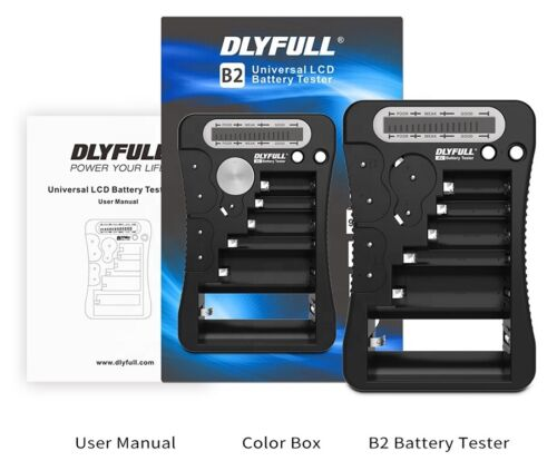Dlyfull Universal Battery Tester with LCD Display