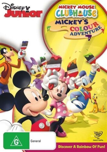 Mickey Mouse Clubhouse: Mickey's Colour Adventure DVD - DISNEY PLUTO DONALD DUCK