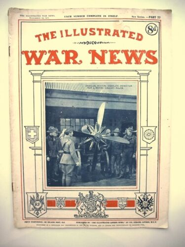 The illustrated War News.1917  Early Aeroplane, Air corps, Airforce.WW1 American