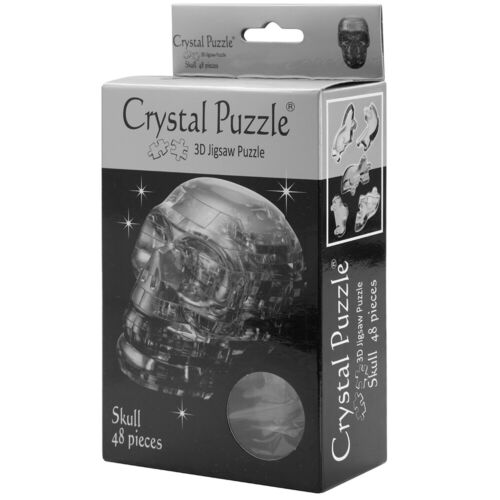 NEW Games 3D Crystal Jigsaw Puzzle Black Skull