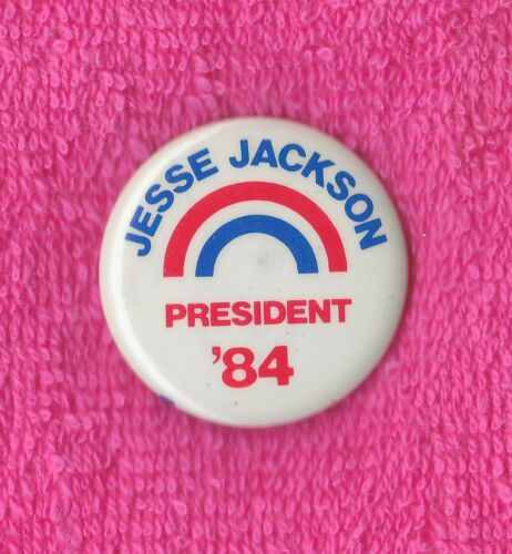 "1984 Jesse Jackson 1-1/4"" / (D) Presidential Hopeful Campaign Button (Pin 01)"