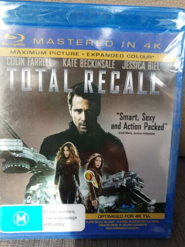 Total Recall 4K BLU RAY-  Region B, BRAND NEW AND SEALED , FREE POST