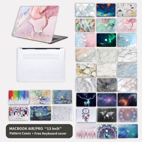 """For Apple Macbook Air Pro 13"""" Inch Pattern Hard Case Shell + keyboard Cover"""