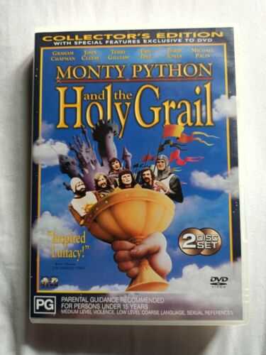 MONTY PYTHON AND THE HOLY GRAIL - 2 DISC DVD VGC