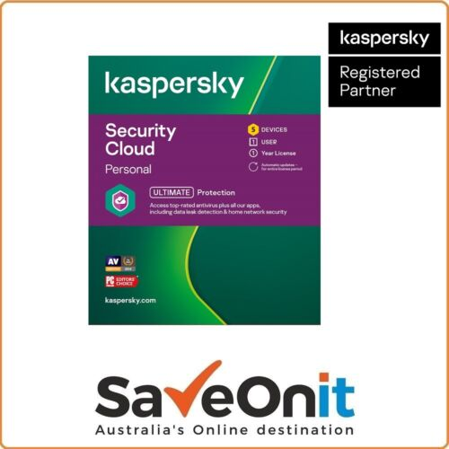 Kaspersky Security Cloud Personal 5 Device 1 User 1 year License email
