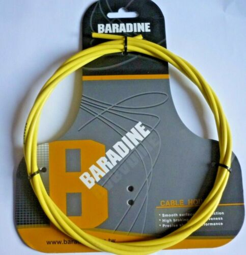 GAINE DE FREIN BARADINE CABLE HOUSING 5mm x 2500mm KEVLAR YELLOW  *HIGH QUALITY*