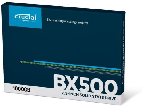 """HARD DISK SSD 2,5"""" STATO SOLIDO 1tb 1000GB CRUCIAL BX500 CT1000BX500SSD1"""