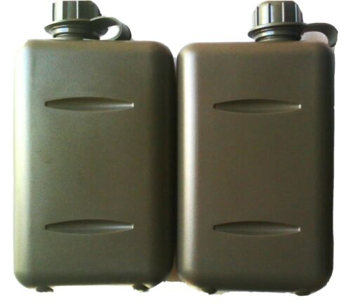 TAS X2 PACK OF SOUTH AFRICAN 2LT MILITARY CANTEEN WITH O-RING SEAL LIDS BPA FREE