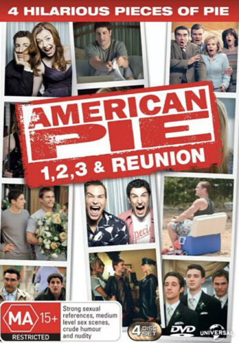 American Pie 4 Play DVD Collection - 1 2 3 Reunion - Wedding  VGC - FREE POST!!
